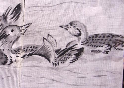 狩野永徳の襖絵を元にデザイン